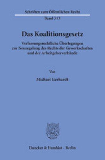 eBook Das Koalitionsgesetz. Cover