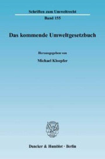 eBook Das kommende Umweltgesetzbuch. Cover