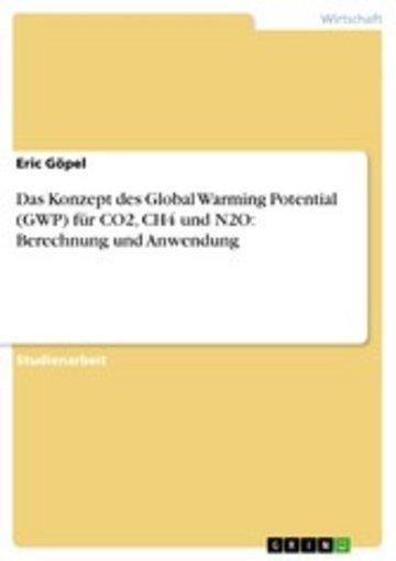 eBook Das Konzept des Global Warming Potential (GWP) für CO2, CH4 und N2O: Berechnung und Anwendung Cover