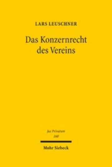 eBook Das Konzernrecht des Vereins Cover