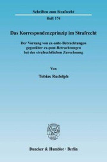eBook Das Korrespondenzprinzip im Strafrecht. Cover