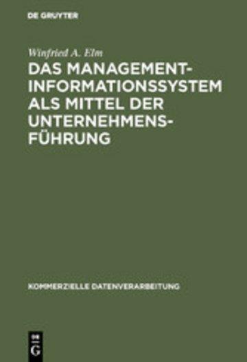 eBook Das Management-Informationssystem als Mittel der Unternehmensführung Cover