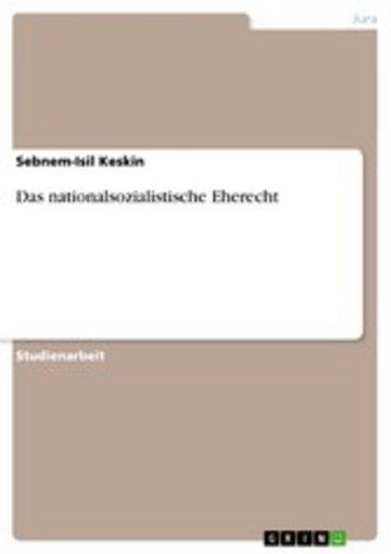 eBook Das nationalsozialistische Eherecht Cover