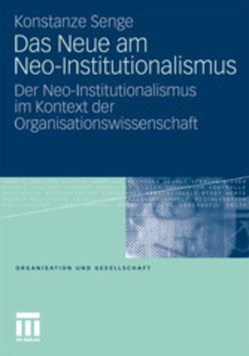 eBook Das Neue am Neo-Institutionalismus Cover