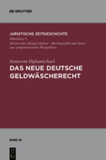 eBook Das neue deutsche Geldwäscherecht Cover