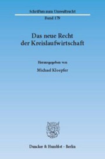 eBook Das neue Recht der Kreislaufwirtschaft. Cover