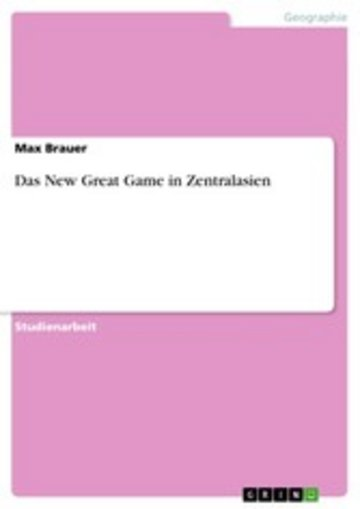 eBook Das New Great Game in Zentralasien Cover