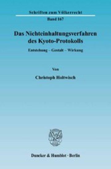 eBook Das Nichteinhaltungsverfahren des Kyoto-Protokolls. Cover