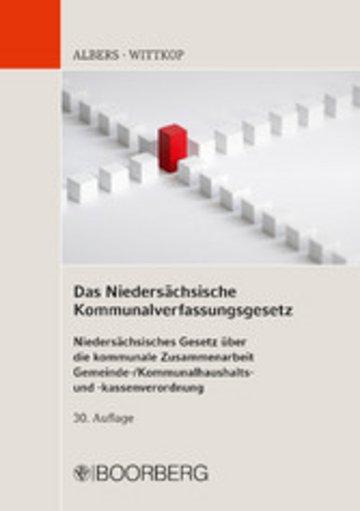 eBook Das Niedersächsische Kommunalverfassungsgesetz Cover
