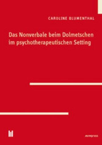 eBook Das Nonverbale beim Dolmetschen im psychotherapeutischen Setting Cover