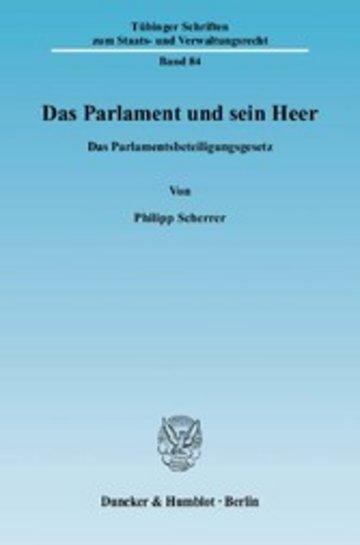 eBook Das Parlament und sein Heer. Cover