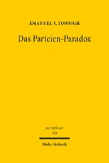 eBook Das Parteien-Paradox Cover