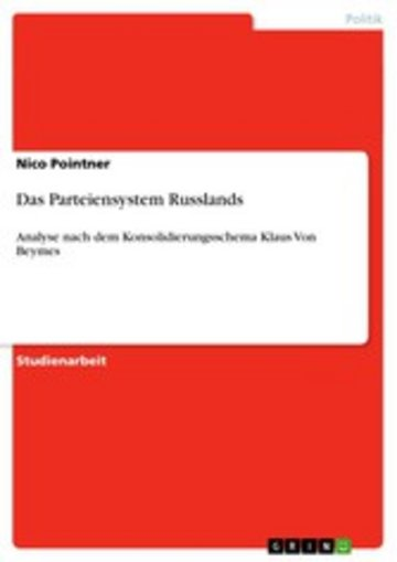 eBook Das Parteiensystem Russlands Cover