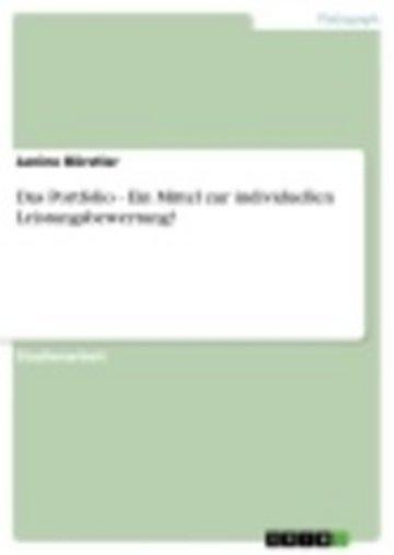 eBook Das Portfolio - Ein Mittel zur individuellen Leistungsbewertung? Cover