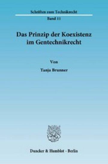 eBook Das Prinzip der Koexistenz im Gentechnikrecht. Cover