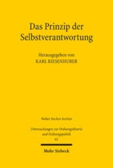 eBook Das Prinzip der Selbstverantwortung Cover