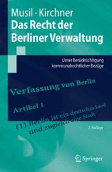 eBook Das Recht der Berliner Verwaltung Cover