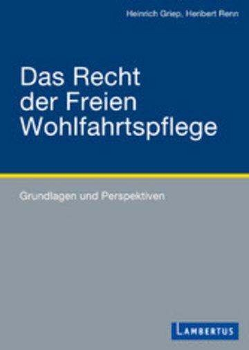 eBook Das Recht der Freien Wohlfahrtspflege Cover