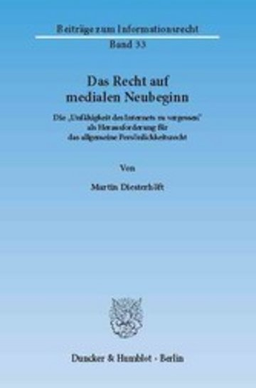 eBook Das Recht auf medialen Neubeginn. Cover
