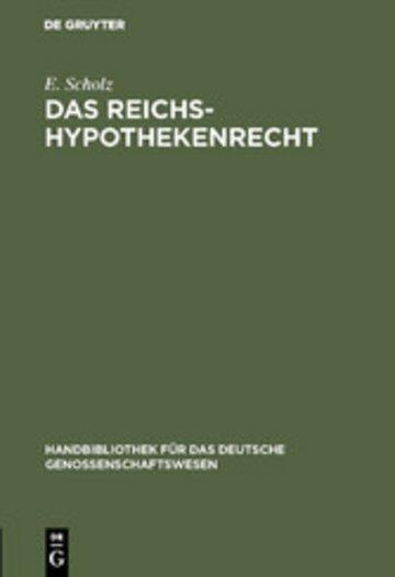 eBook Das Reichs-Hypothekenrecht Cover