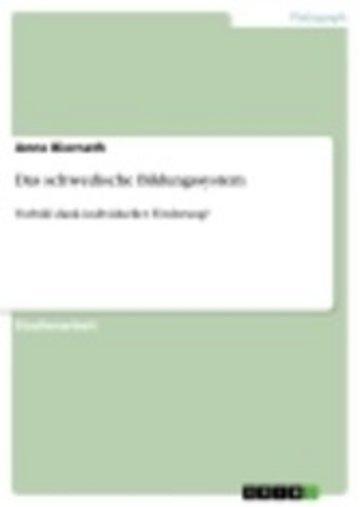 eBook Das schwedische Bildungssystem Cover