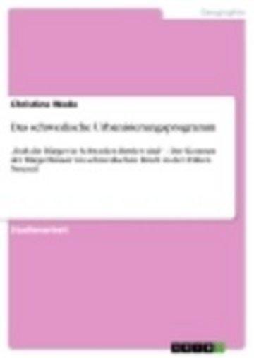 eBook Das schwedische Urbanisierungsprogramm Cover
