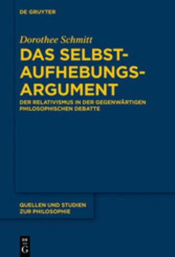 eBook Das Selbstaufhebungsargument Cover