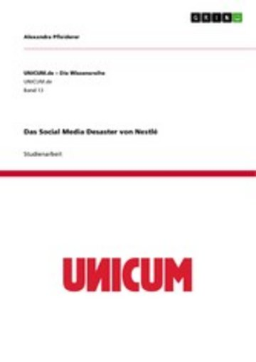 eBook Das Social Media Desaster von Nestlé Cover