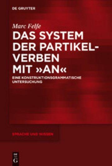 eBook Das System der Partikelverben mit 'an' Cover