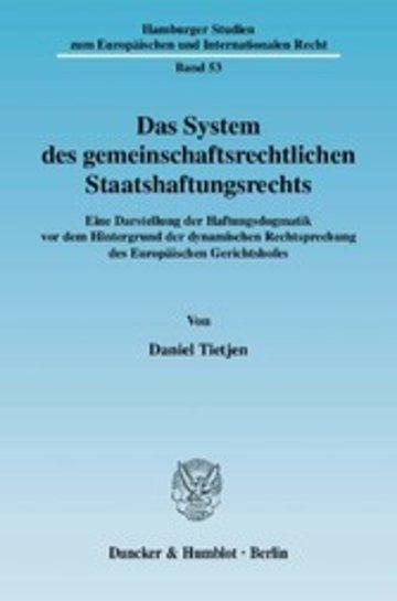 eBook Das System des gemeinschaftsrechtlichen Staatshaftungsrechts. Cover
