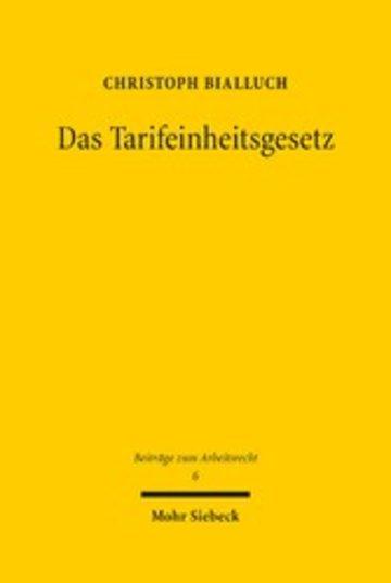 eBook Das Tarifeinheitsgesetz Cover