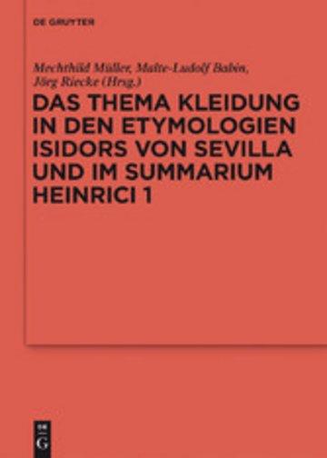 eBook Das Thema Kleidung in den Etymologien Isidors von Sevilla und im Summarium Heinrici 1 Cover