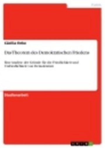 eBook Das Theorem des Demokratischen Friedens Cover