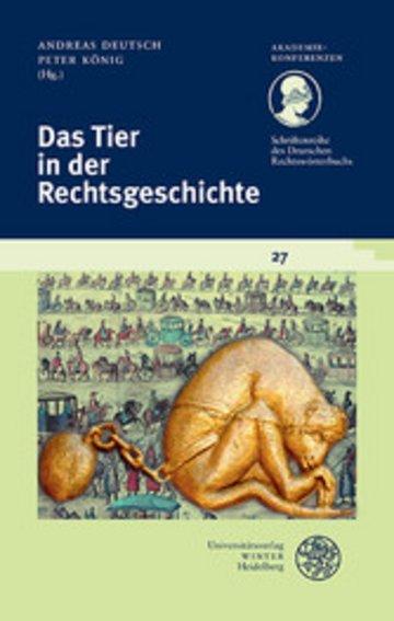 eBook Das Tier in der Rechtsgeschichte Cover