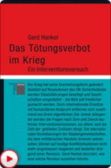 eBook Das Tötungsverbot im Krieg Cover