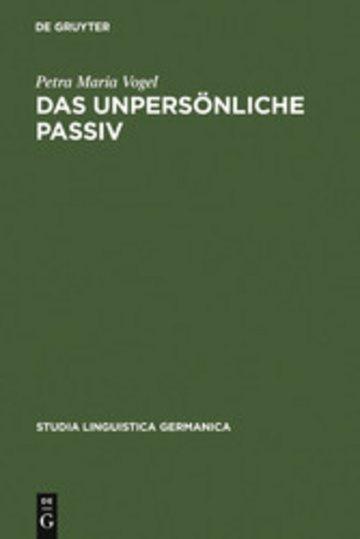 eBook Das unpersönliche Passiv Cover