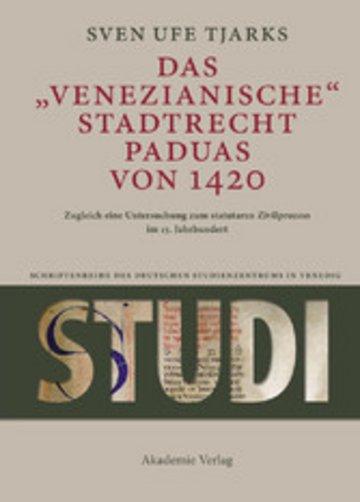 eBook Das Venezianische Stadtrecht Paduas von 1420 Cover