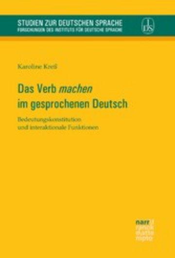 eBook Das Verb 'machen' im gesprochenen Deutsch Cover
