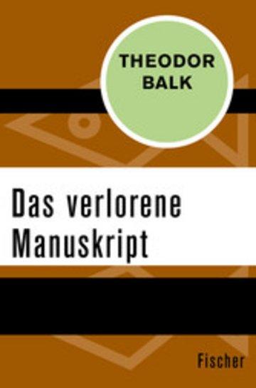 eBook Das verlorene Manuskript Cover