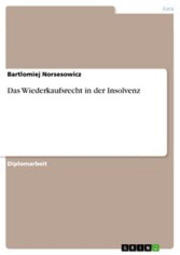 eBook Das Wiederkaufsrecht in der Insolvenz Cover