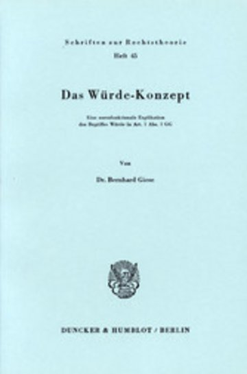 eBook Das Würde-Konzept. Cover