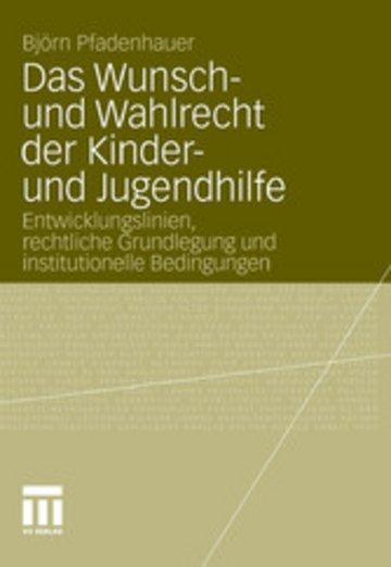 eBook Das Wunsch- und Wahlrecht der Kinder- und Jugendhilfe Cover