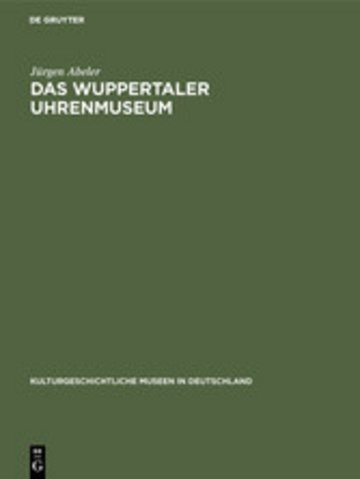 eBook Das Wuppertaler Uhrenmuseum Cover