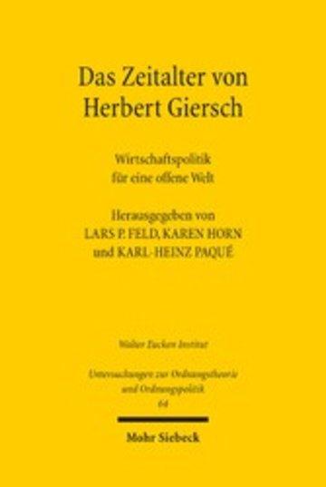 eBook Das Zeitalter von Herbert Giersch Cover