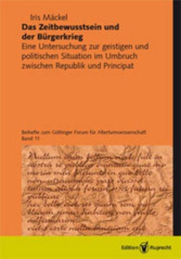 eBook Das Zeitbewusstsein und der Bürgerkrieg Cover