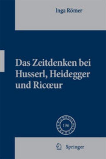 eBook Das Zeitdenken bei Husserl, Heidegger und Ricoeur Cover