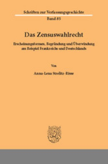 eBook Das Zensuswahlrecht. Cover