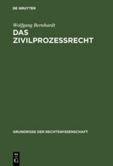 eBook Das Zivilprozeßrecht Cover