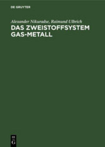 eBook Das Zweistoffsystem Gas-Metall Cover
