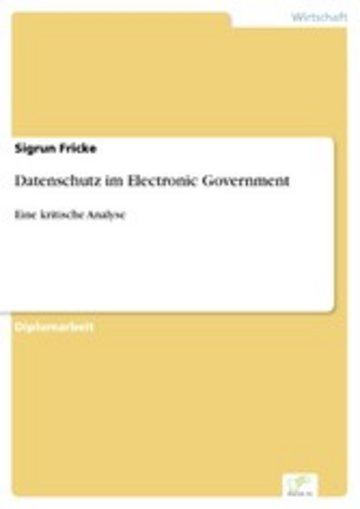eBook Datenschutz im Electronic Government Cover